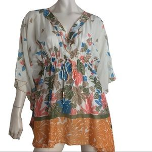 Missoni Top Blouse Mare Coverup Sheer Logo Print